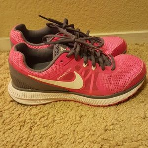 Pink and Grey Nikes